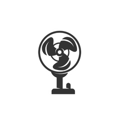 Fan icon isolated on a white background vector image vector image