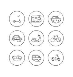 flat linear icons of personal urban vector image