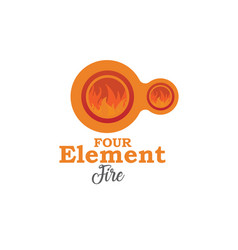 four element fire vector image vector image