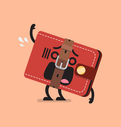 Funny wallet with a tight belt vector