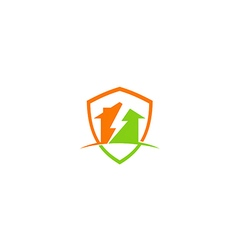 House thunder storm construction logo vector