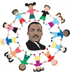 martin luther king kids vector image