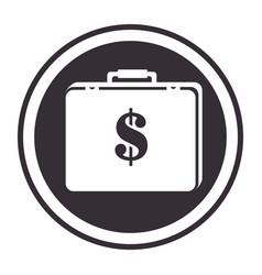 Monochorme circular border portfolio with dollar vector