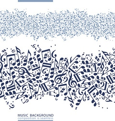 One-colored horizontal music canvas seamless tape vector