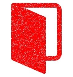 Open door grainy texture icon vector