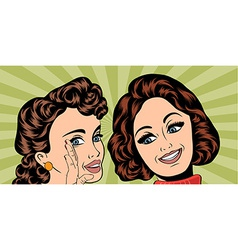 pop art retro women in comics style that gossip vector image