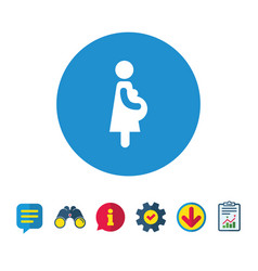 Pregnant sign icon pregnancy symbol vector