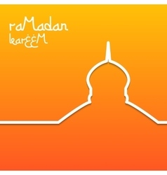 Template design concept card for ramadan kareem vector