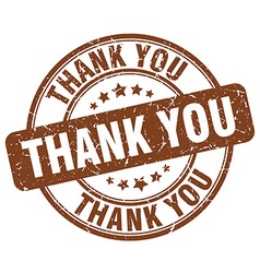 thank you brown grunge round vintage rubber stamp vector image