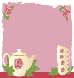 vintage tea vector image