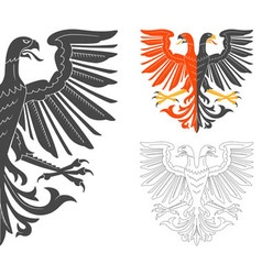 Double headed eagle vector