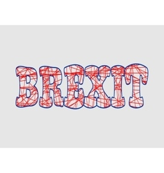 Britain and eu relationships brexit text vector