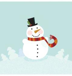 Christmas winter snowman vector