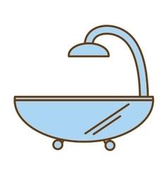 Bathtub spa isolated icon vector