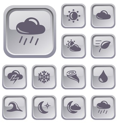 Weather buttons vector