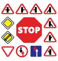 Colorfull traffic auto signs vector