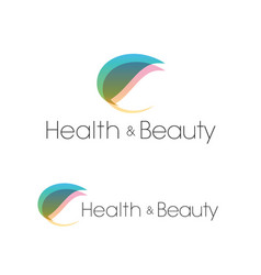 Leaf health and beauty spa salon logo template vector