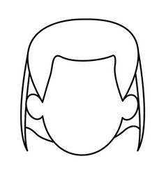 Silhouette of faceless head woman hairstyle vector