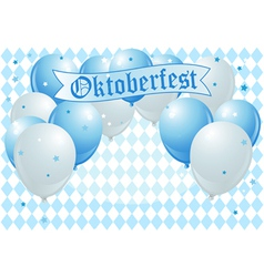Oktoberfest celebration balloons vector