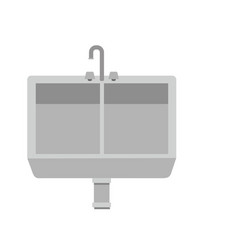 Grayscale silhouette of kitchen sink vector