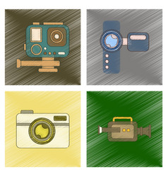 Assembly flat shading style icon multimedia vector