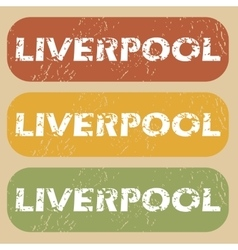 Vintage liverpool stamp set vector