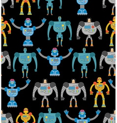 Robots seamless pattern Cosmic cyborgs seamless vector image