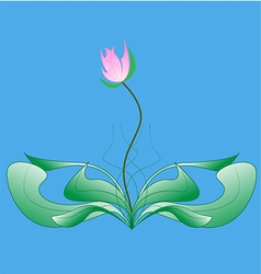 Natural flower with leaf vector