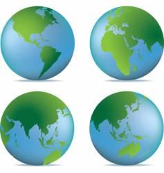 natural globe vector image