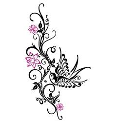 Swalloow spring time vector