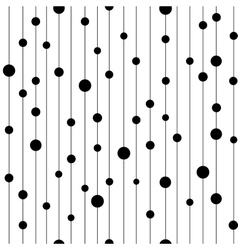 Polka dot black on line seamless pattern vector