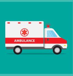 ambulance car icon flat design vector image vector image