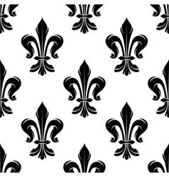 Black vintage fleur-de-lis seamless floral pattern vector