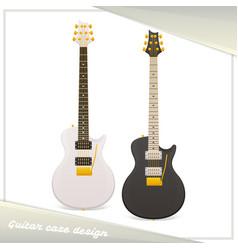 Design guitar case vector