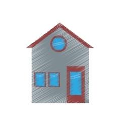 Family house facade residential ed design vector