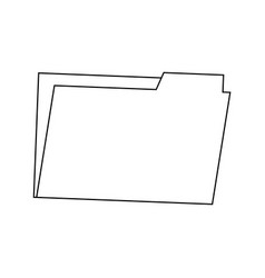 Folder archive office supply element blank icon vector