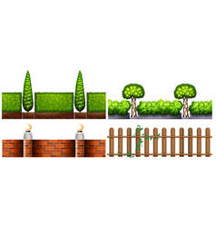 four designs for fences vector image