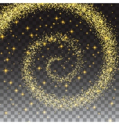 Glittering swirl trail isolated on transparent vector image vector image