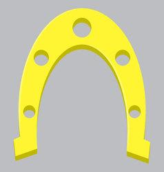 Golden horseshoe isolated vector image