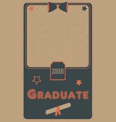 Graduation 2018 photo frame graduation ceremony vector