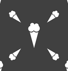 Ice Cream icon sign Seamless pattern on a gray vector image