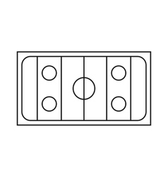 Ice hockey rink icon outline style vector