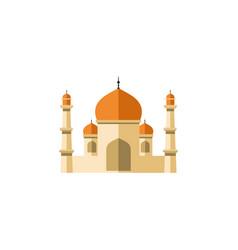 Isolated minaret flat icon religion vector