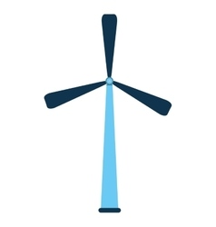Isolated wind mill design vector