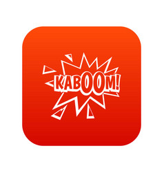 kaboom explosion icon digital red vector image vector image