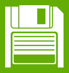 magnetic diskette icon green vector image
