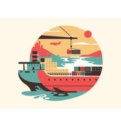 Maritime transport logistics vector image
