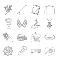medicine travel sports and other web icon in vector image vector image