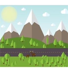Mountain landscape beside the vector image