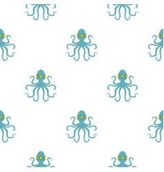 Octopus pattern flat vector